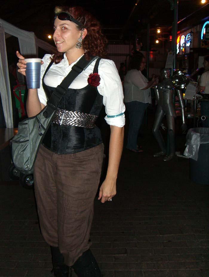 Black vest and metal belt