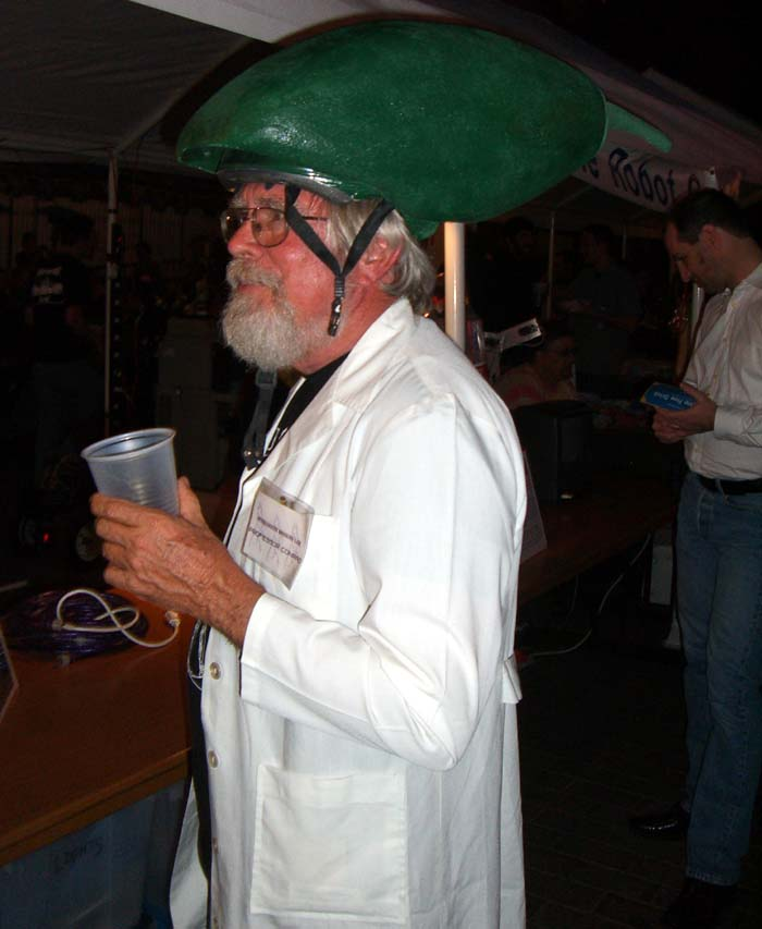 A costumed character who went by Professor Konrad