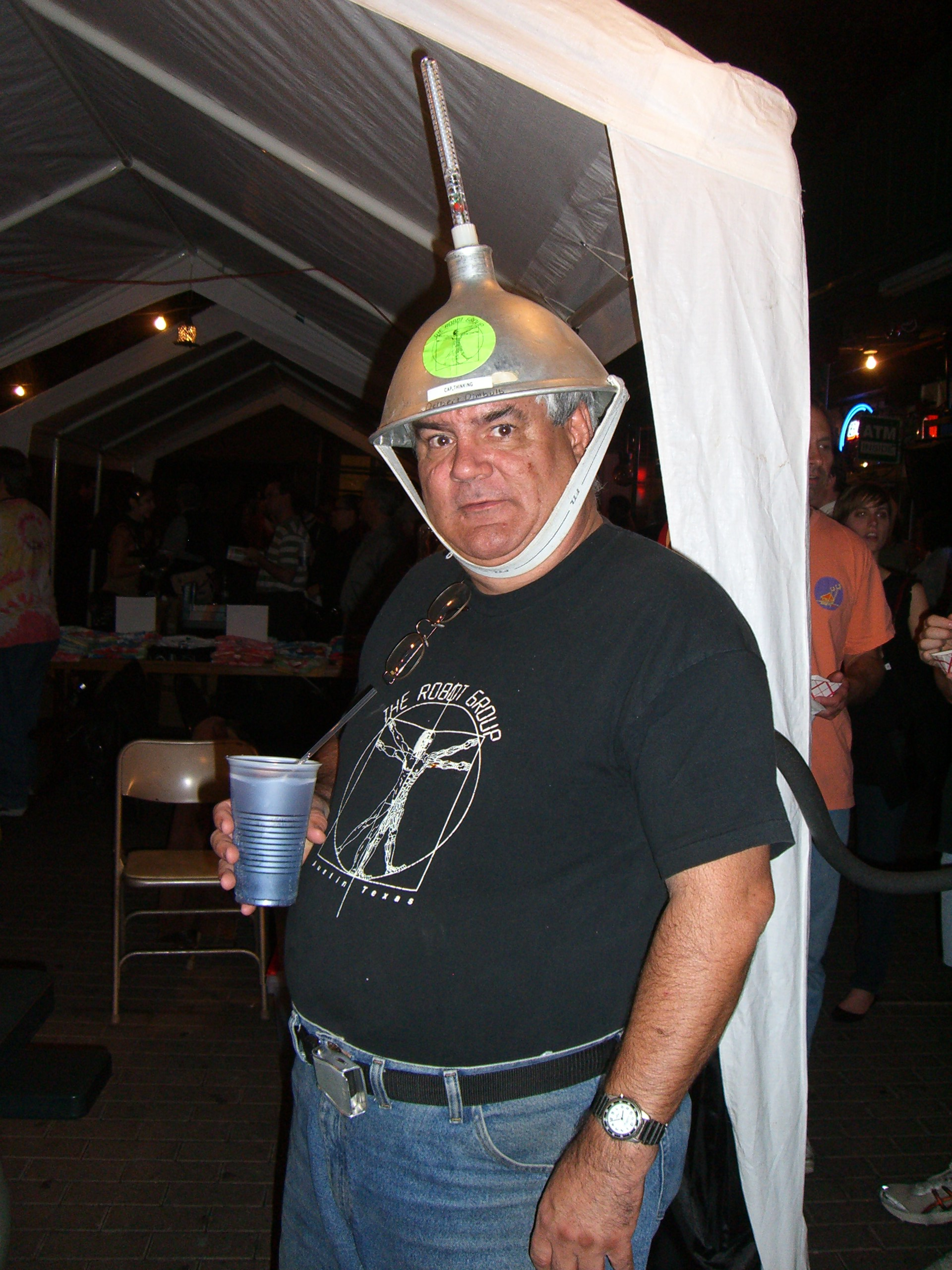 A guy from Robot Group at the Steampunk party at SXSW 2007
