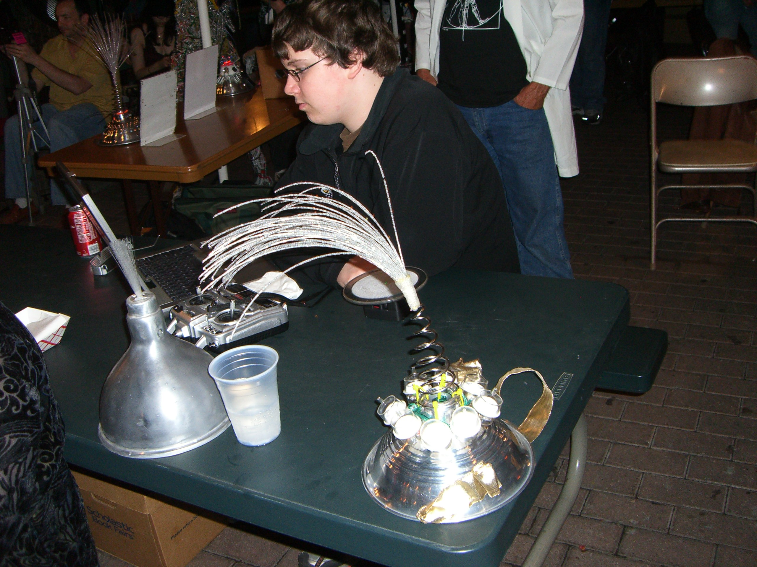 Robot Group table at the Steampunk party at SXSW 2007