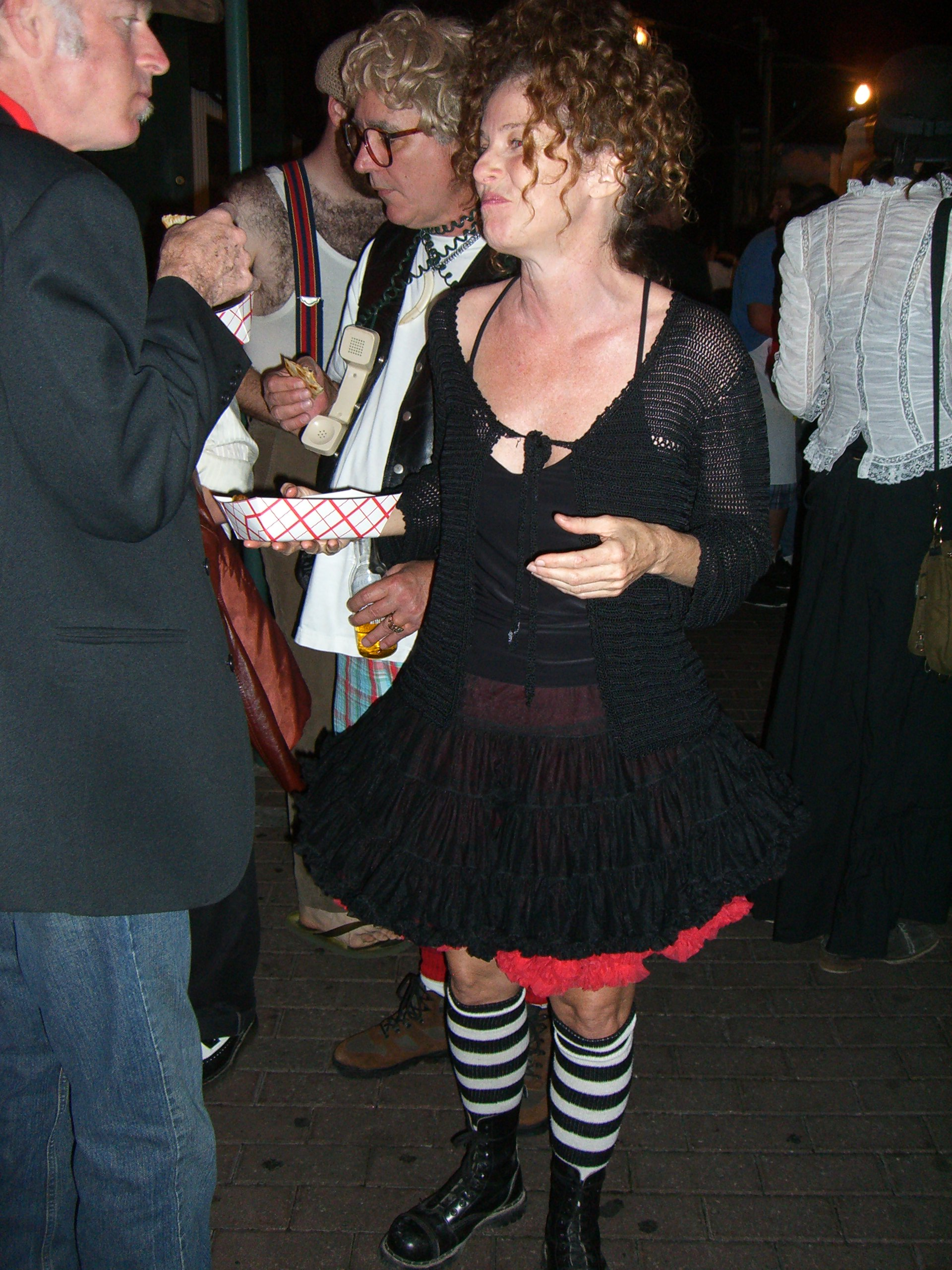 Black, red, white and stripy - steampunk party at the SXSW 2007