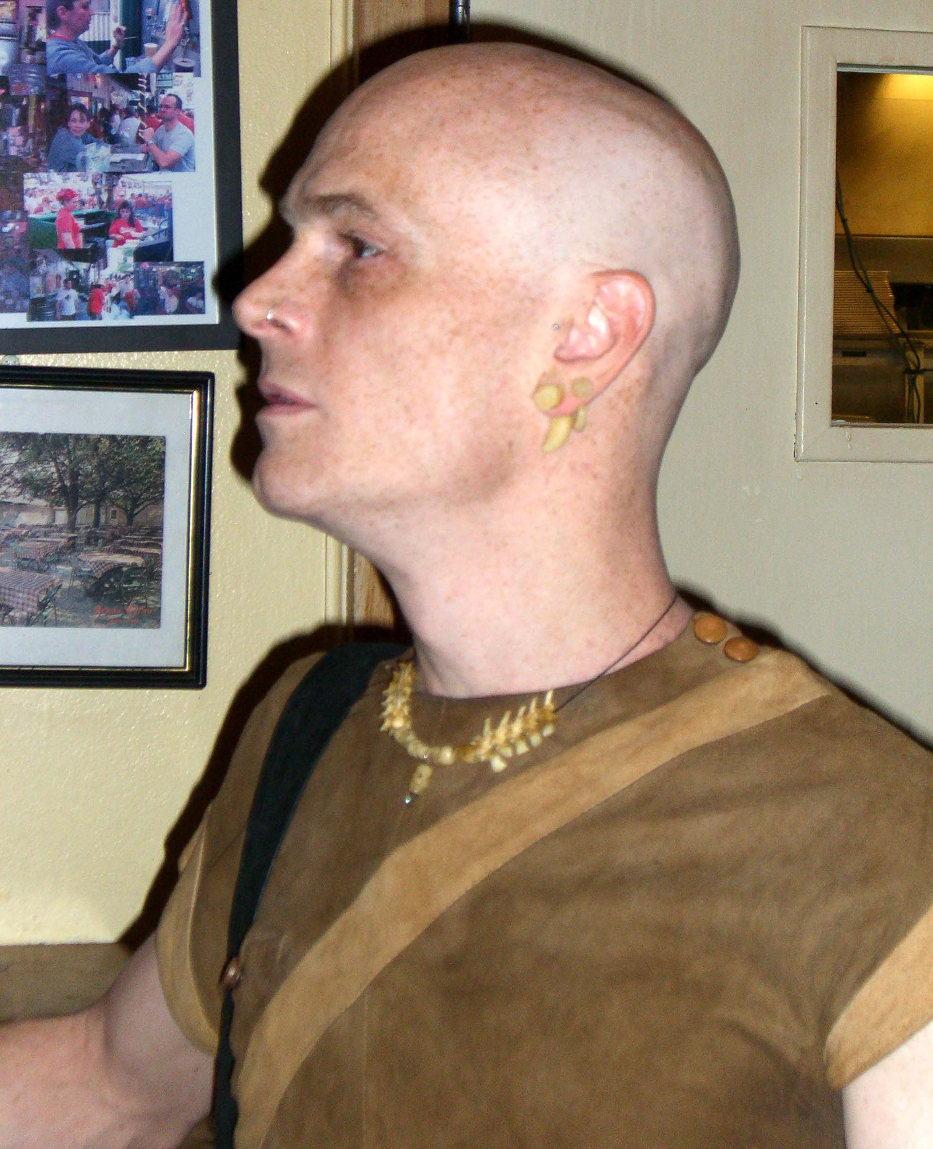 Tooth earrings, seen at the steampunk party at the SXSW 2007