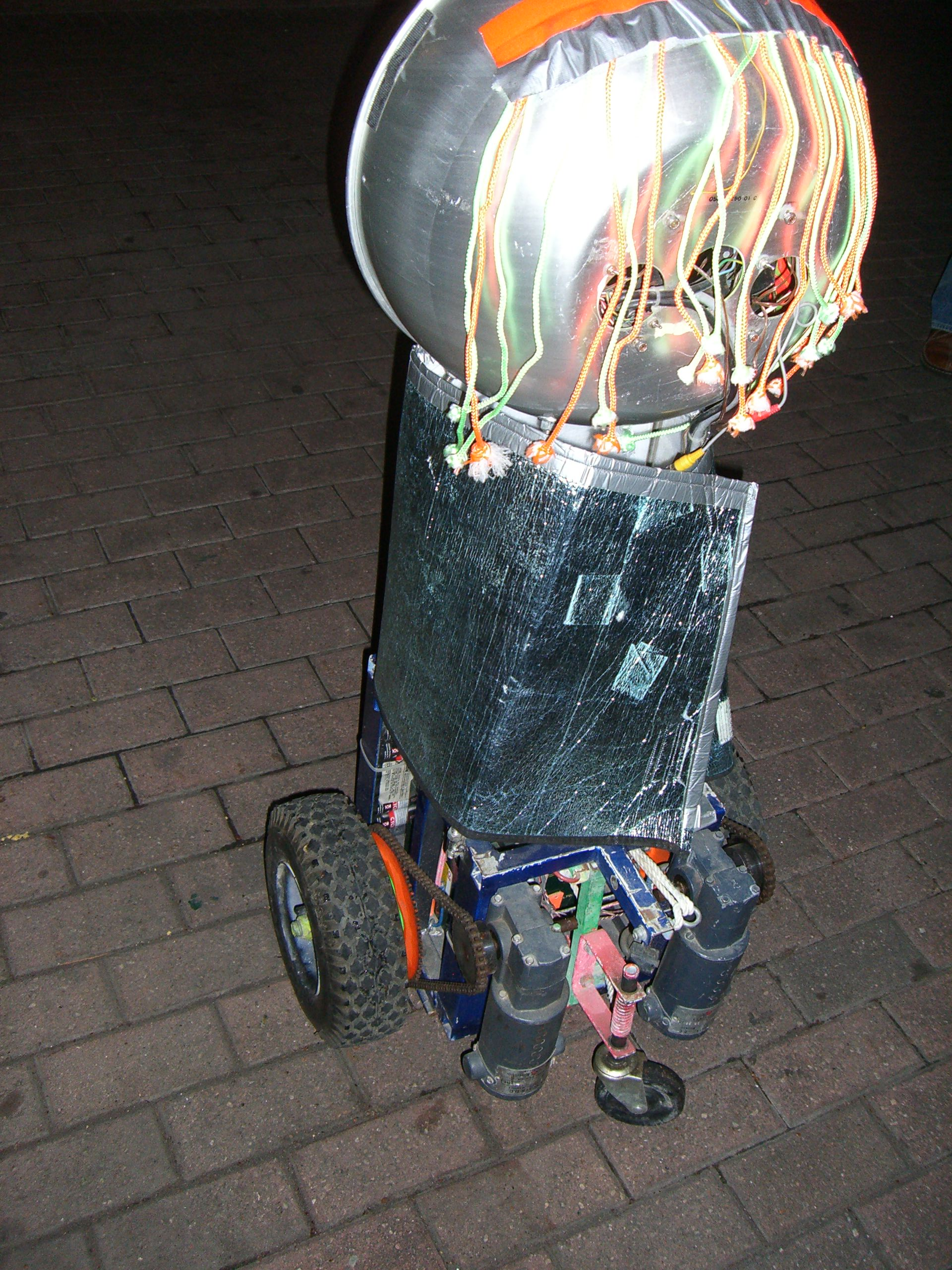 An upright bubble from wheels from the Robot Group