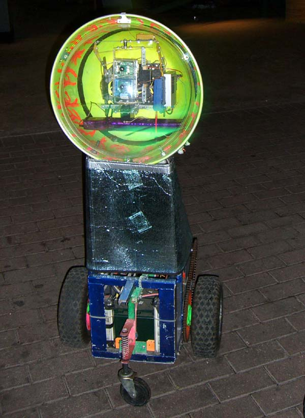 An upright bubble from wheels, the face side