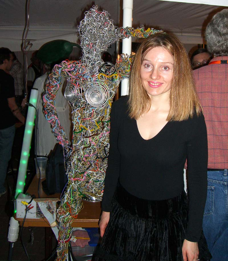 Me and a robot at the steampunk party at SXSW 2007