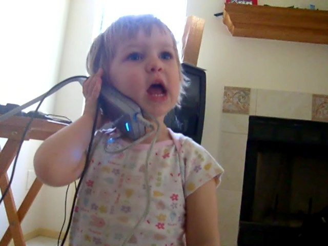 Talking into a power supply as if into a phone