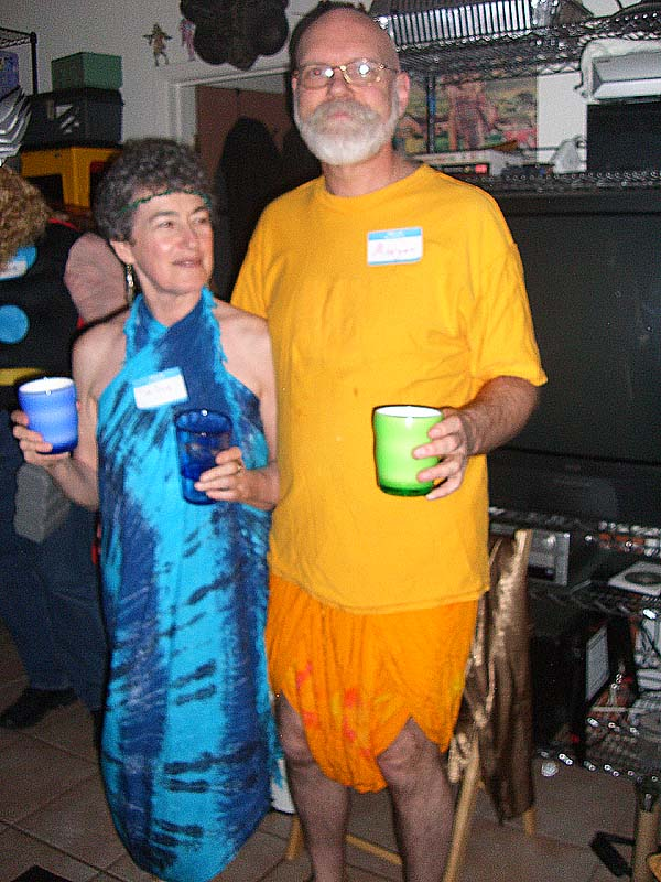 The gods of tie dye at the second annual Ye Gods party