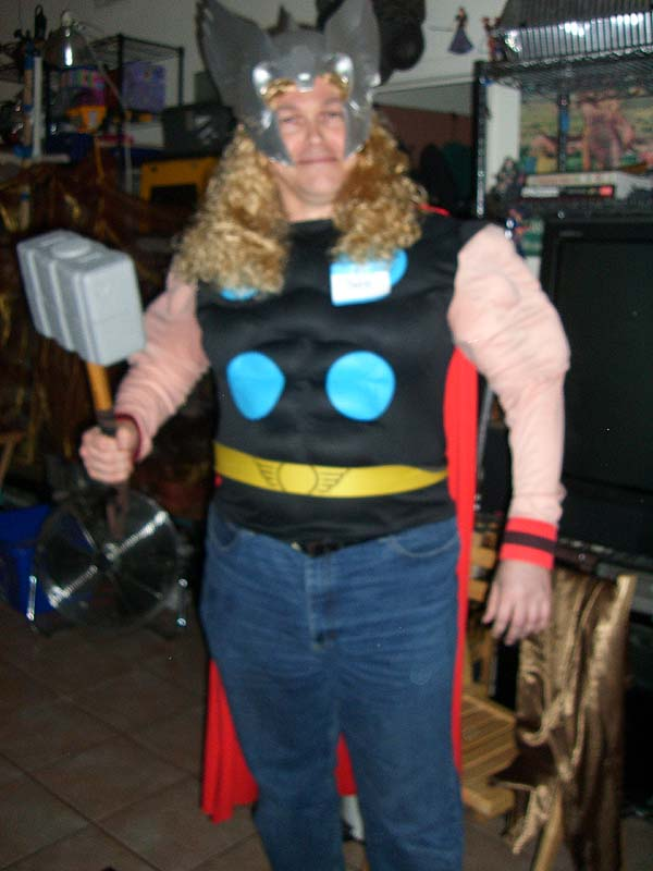 Jeff D as Thor at the second annual Ye Gods party