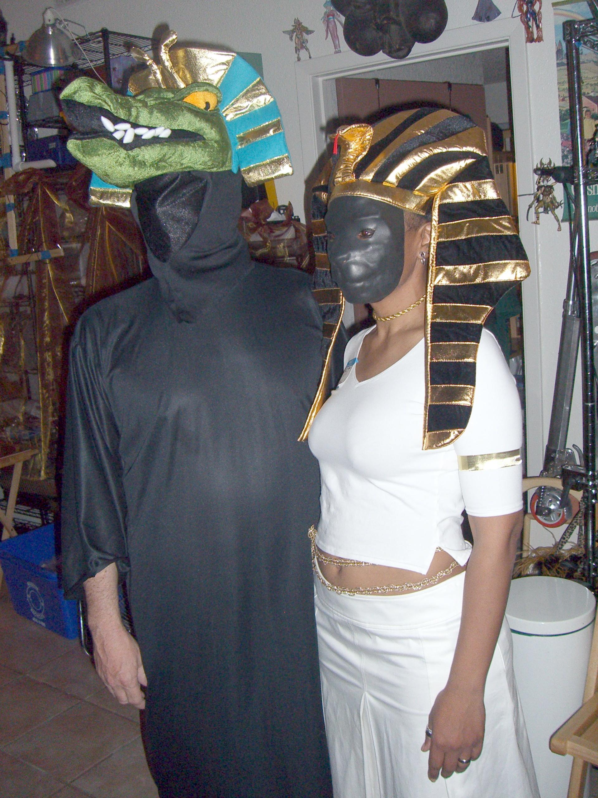 Egyptian gods Sobek and Bast
