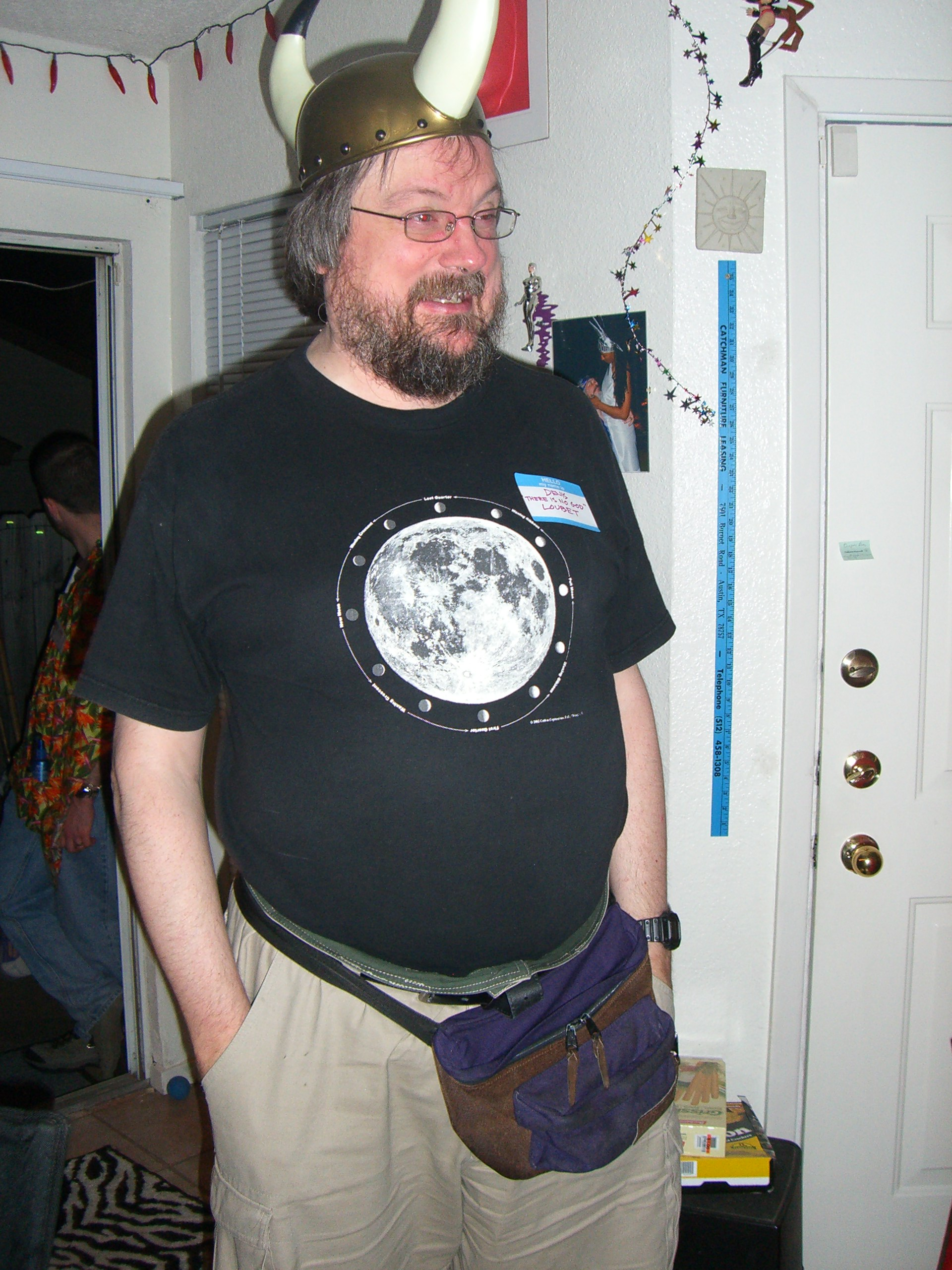Denis at the second annual Ye Gods party
