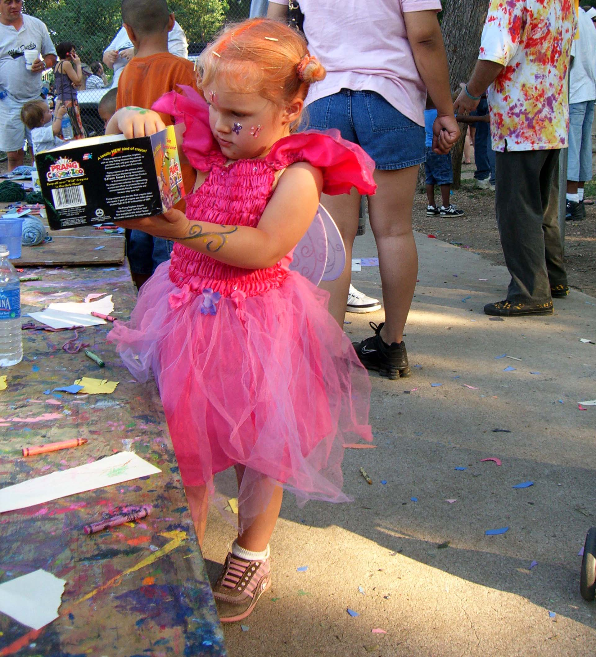 A fairy-in-training, with wings, seen at Eeyore's Birthday 2007