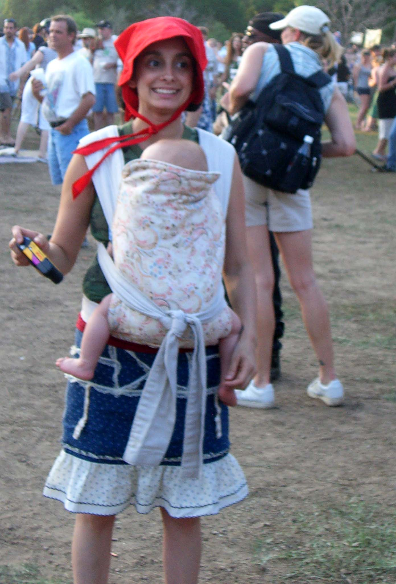Red Riding Hood with a baby in a sling, Eeyore's Birthday 2007