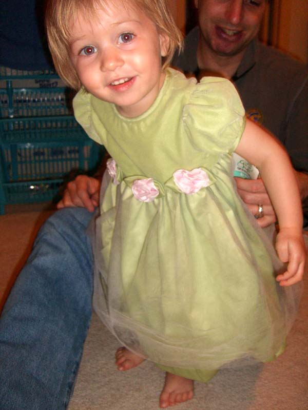 E in a party dress, April 2007