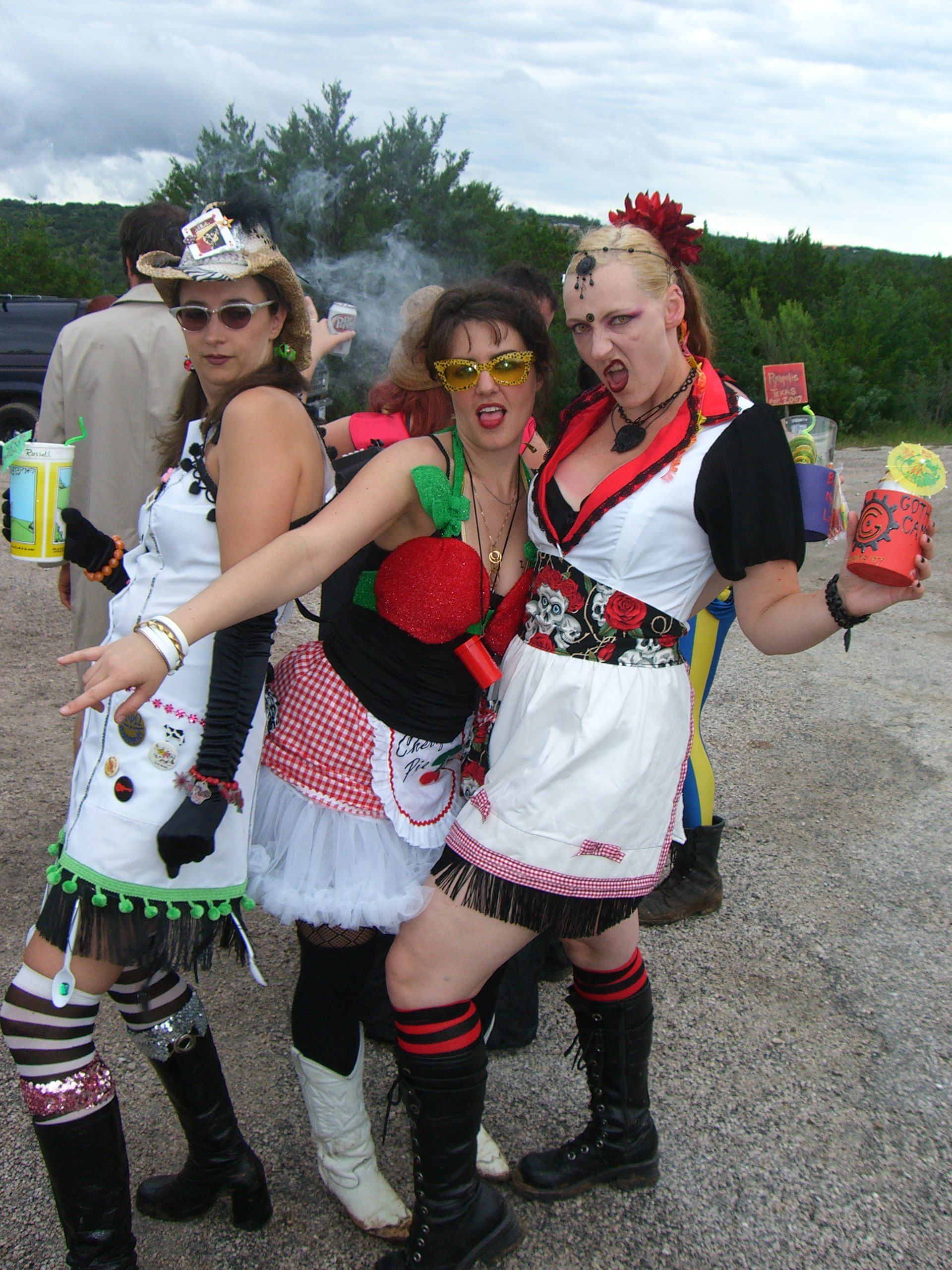 The greeters at the greeters station at Burning Flipside 2007