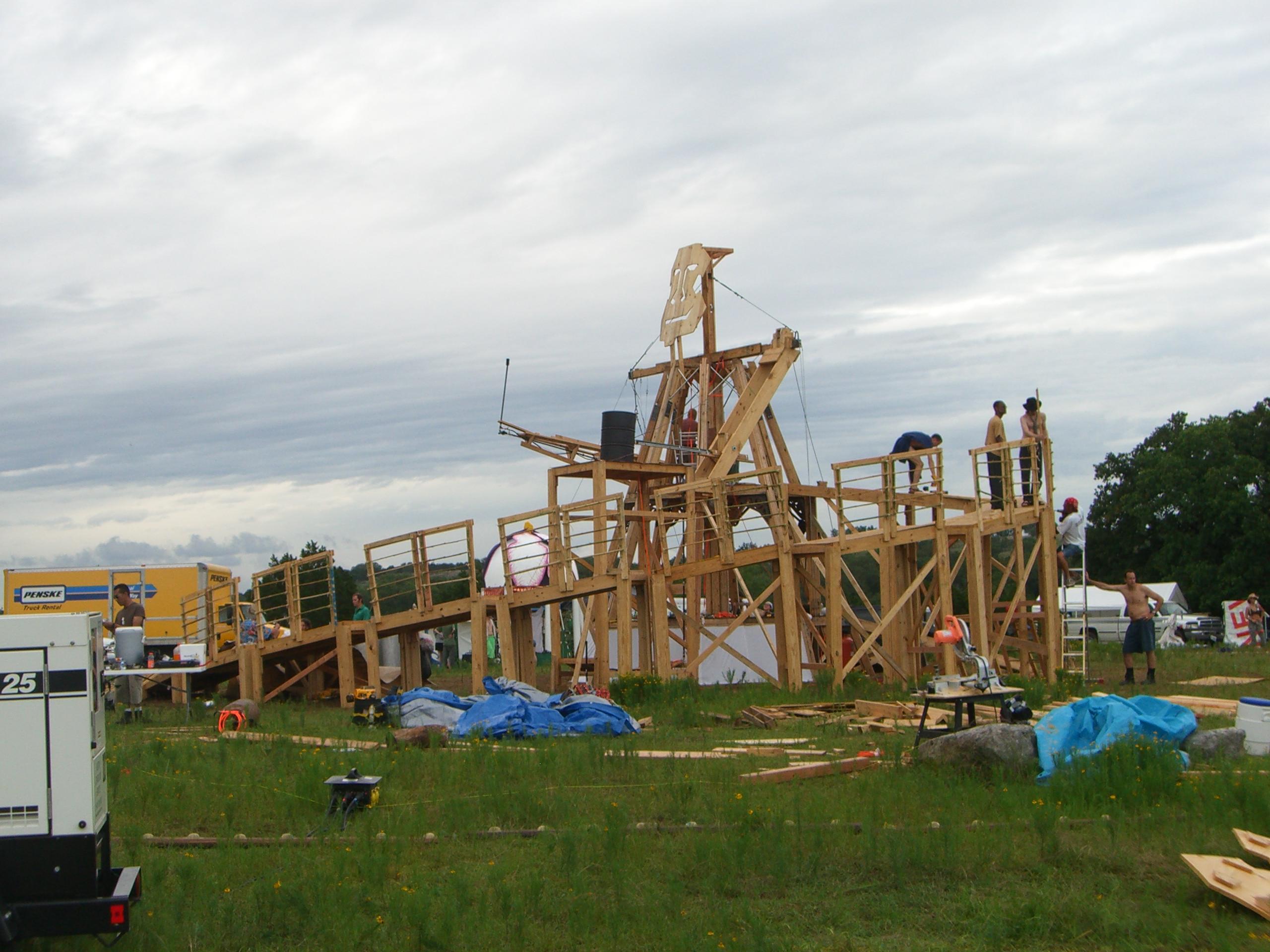 Effigy still being built at Burning Flipside 2007