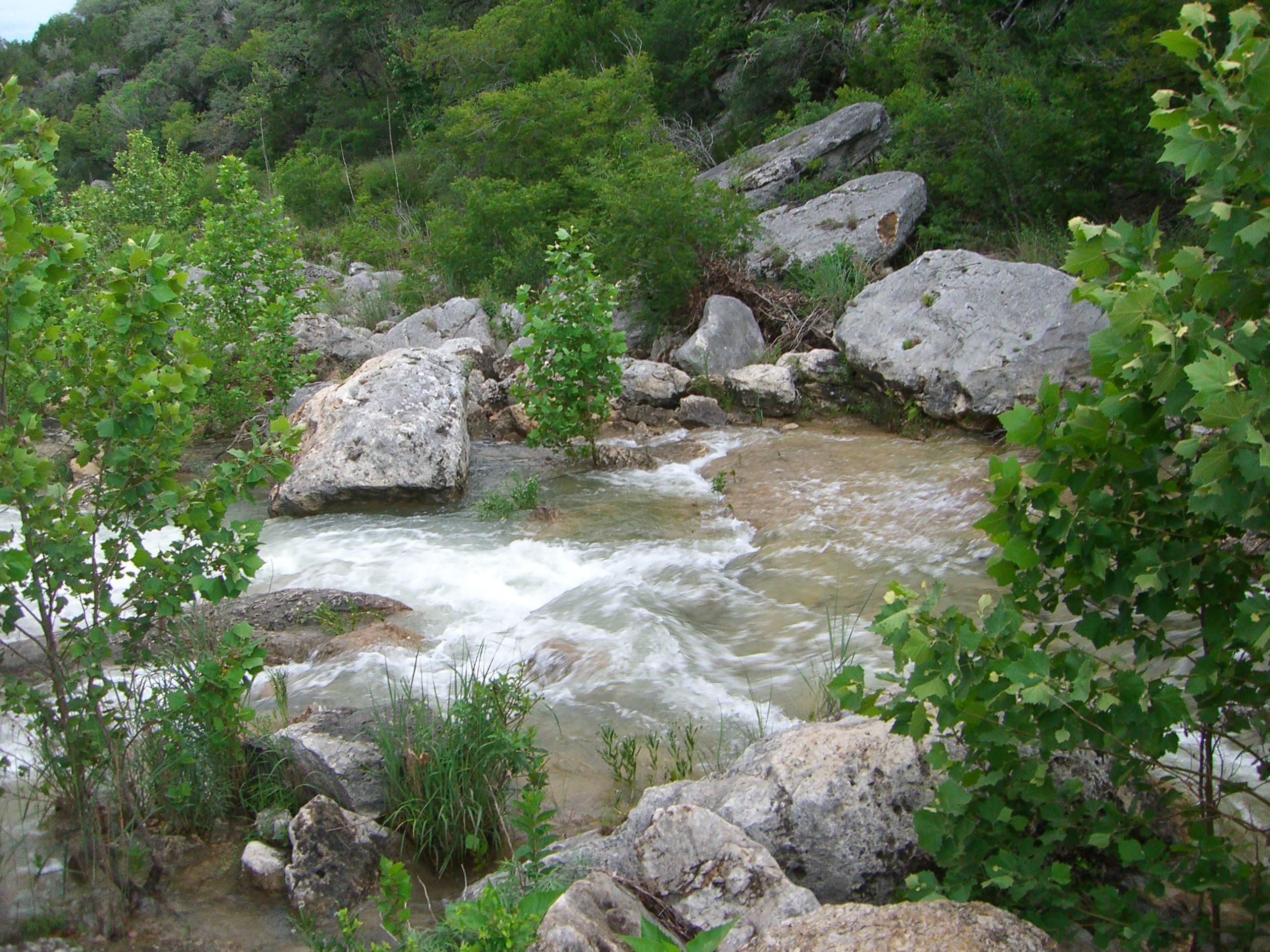 The dam across Flat Creek