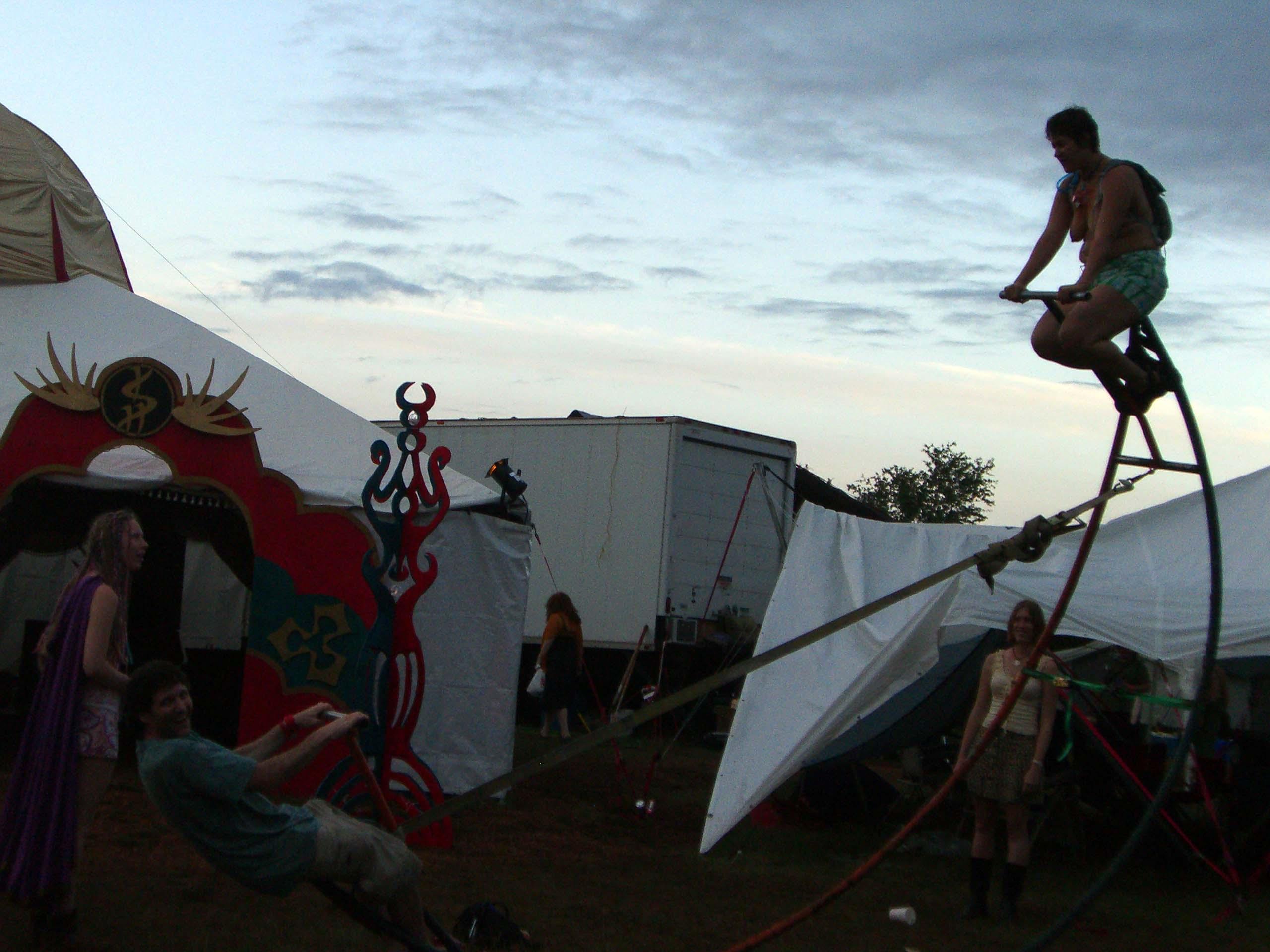 A circular seesaw at the Ish camp at Burning Flipside 2007