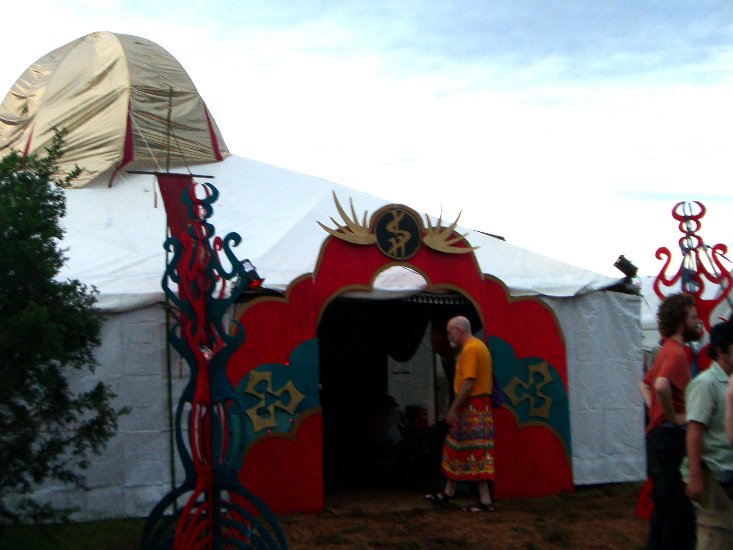 A tent in the Ish camp at Burning Flipside 2007