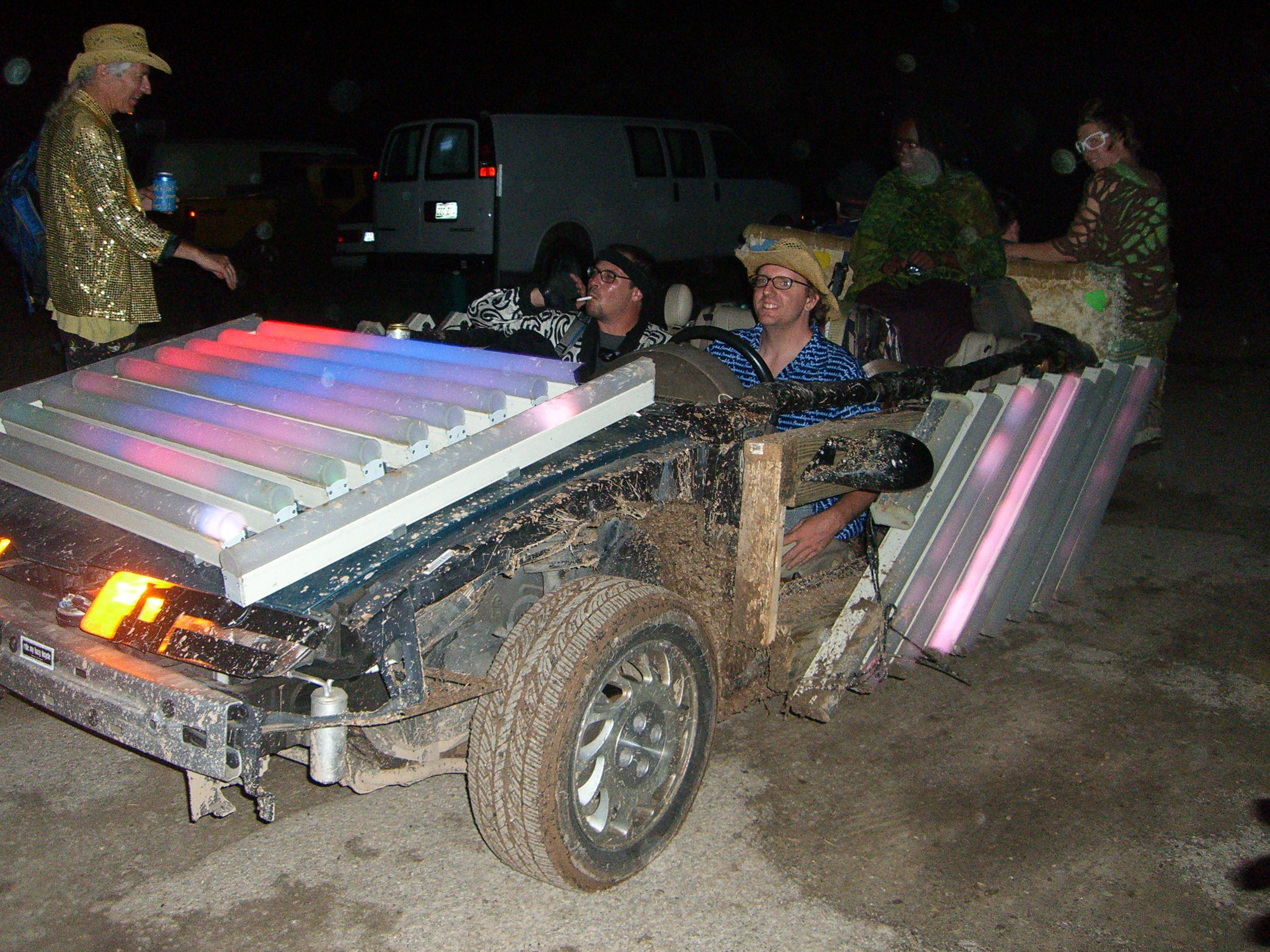 A mutant vehicle at Burning Flipside 2007