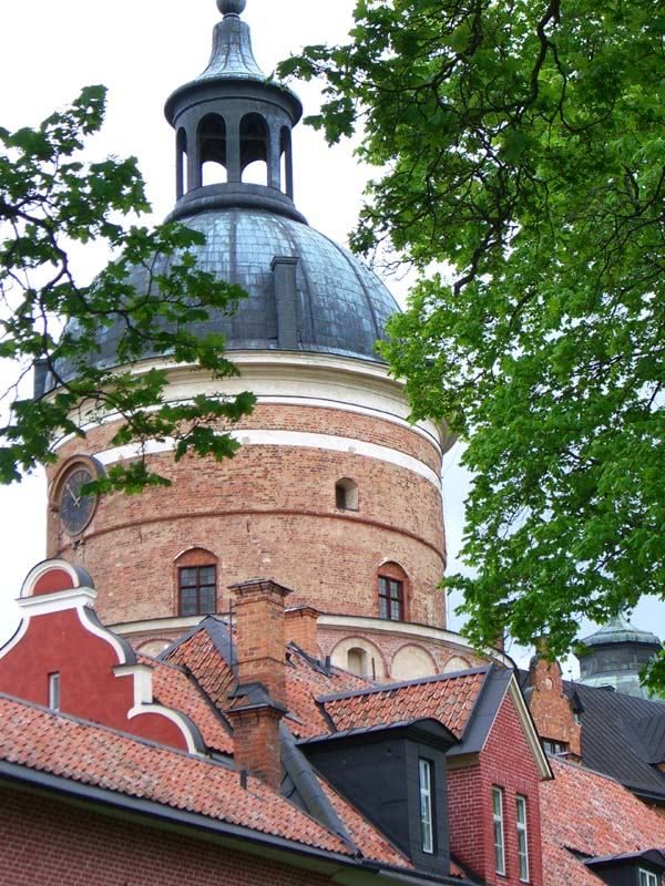 Gripsholm castle roofs up close